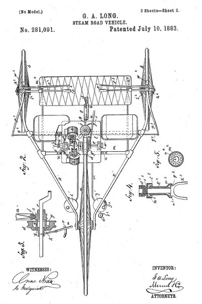 George_long_automobile_patent